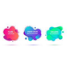 liquid design amoeba banners text vector image