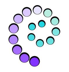 loading process circular icon cartoon vector image