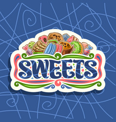 Logo for sweets vector