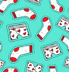 Male underwear patch icon seamless pattern vector