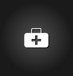 medicine chest icon flat vector image