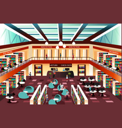 modern looking library vector image