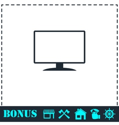Monitor icon flat vector image