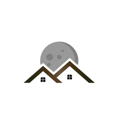 Moon real estate logo vector