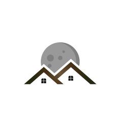moon real estate logo vector image