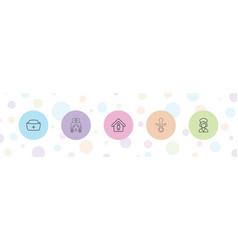 Nursing icons vector