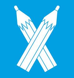 Pencils icon white vector