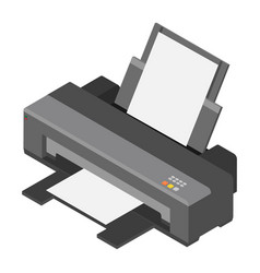 printer isometric view vector image