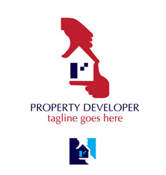 Property developer hand symbol vector