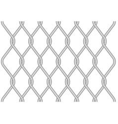 Rabitz metallic wire mesh pattern - twisted wire vector