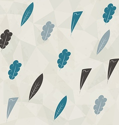 Retro feathers seamless with paper and grunge vector