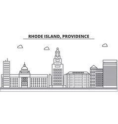rhode island providence architecture line skyline vector image