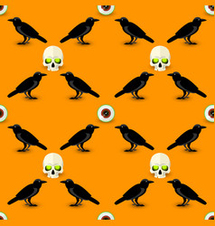scary halloween seamless pattern vector image