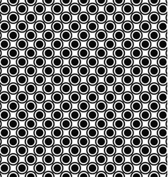 Seamless monochrome circle pattern background vector