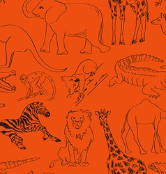 seamless pattern of animals vector image