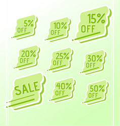 set of colorful abstract sale stickers tags vector image