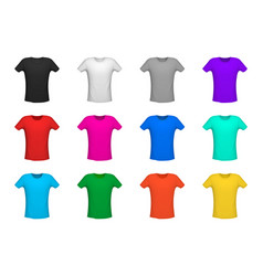 set of diferent t-shirt vector image