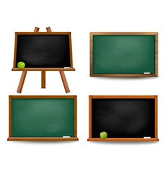 set school board blackboards back to school vector image