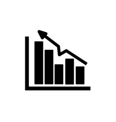 Silhouette business statistic data growing diagram vector