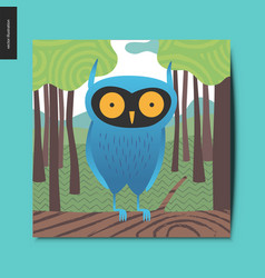 Simple things - blue owl vector