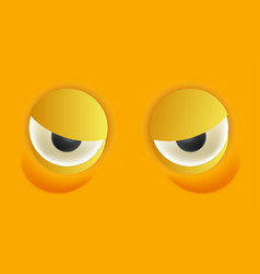 smiley eyes isolated cartoon vector image