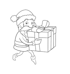 Sneaky Santa Line Art vector image