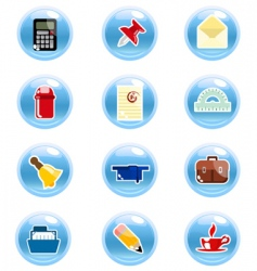stationary icon vector image