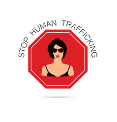 Stop human traffickung with women vector