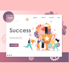 Success website landing page design vector