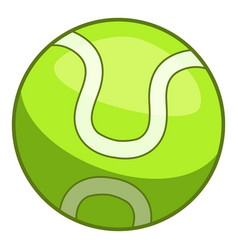 tennis ball icon cartoon style vector image
