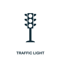 traffic light icon monochrome style design from vector image