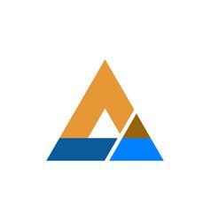 triangle business company logo vector image