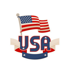 usa national symbols color vector image