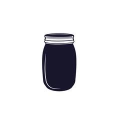 vintage hand drawn silhouette jar symbol cute vector image