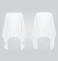 white poncho vector image