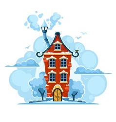 Winter fairy-tale house in vector