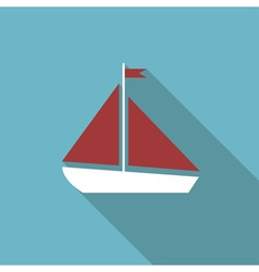 Yacht icon ship vector image