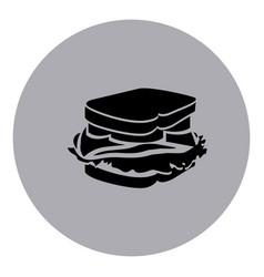 blue emblem sticker sandwich icon vector image vector image