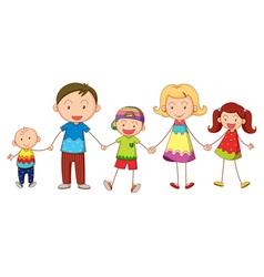 Cartoon Family Portrait vector image
