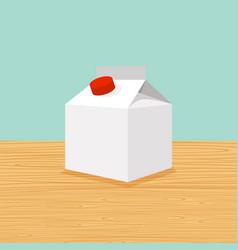 farm cartoon of milk vector image vector image