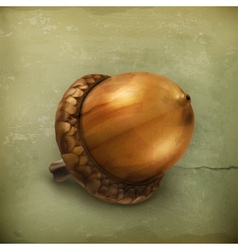 Acorn old style vector image vector image