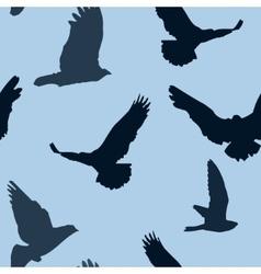 birds background seamless pattern vector image