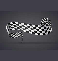 Black and white checkered flag or banner vector