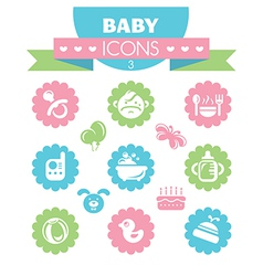 collection of universal baby icons vector image vector image