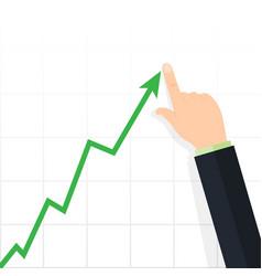 diagram up profit concept growing business graph vector image vector image