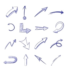 hand drawn curved arrows vector image vector image