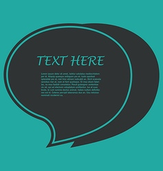 Icon of Quotation Speech Bubble template with vector image