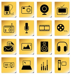 mass media icons vector image