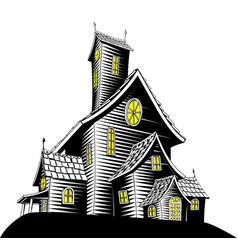 scary haunted house vector image