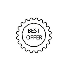 best offer tag icon vector image vector image